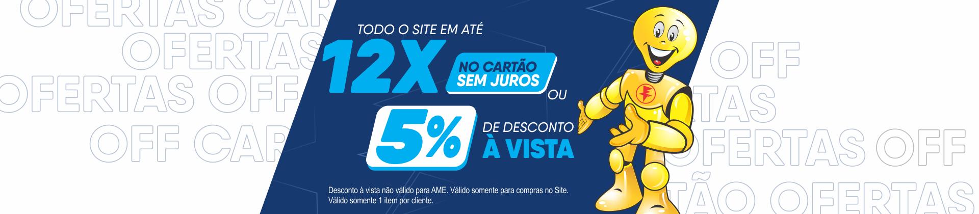 Promoção 12x5%